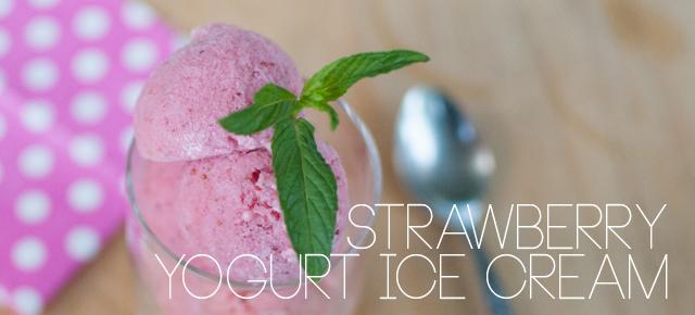 strawberry yogurt ice cream