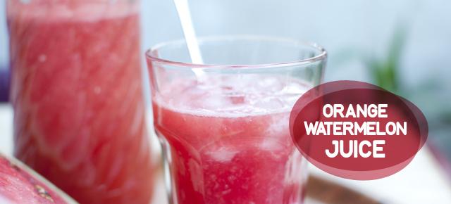 orange watermelon juice - lubenica