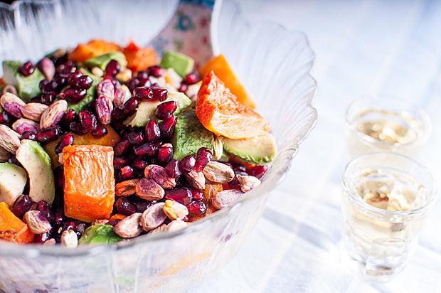 pumpkin avocado salad salata tikva