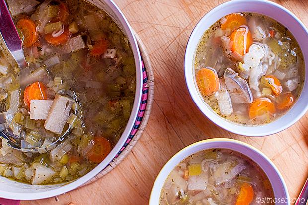 rich vegetable soup - carrot