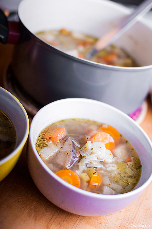 rich vegetable soup with kohlrabi