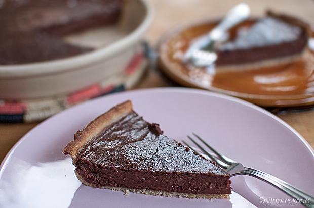chocolate tahini tart-11