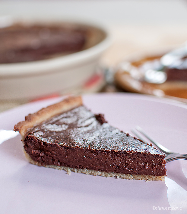 chocolate tahini tart-13