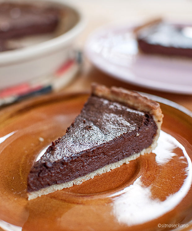 chocolate tahini tart-14
