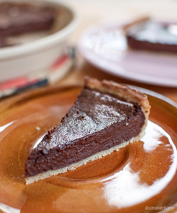 chocolate tahini tart-14