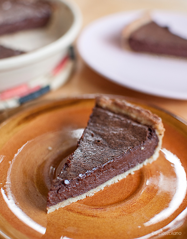 chocolate tahini tart-16