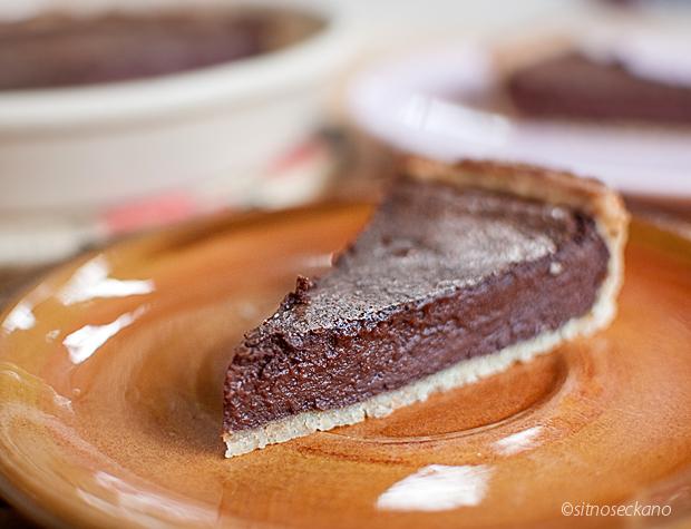 chocolate tahini tart-18