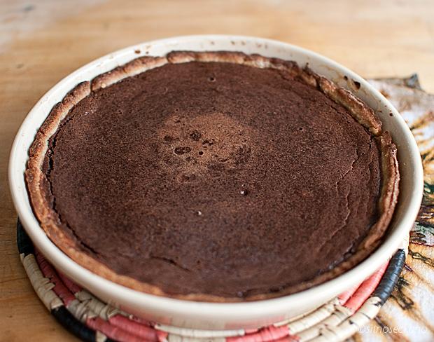 chocolate tahini tart-7