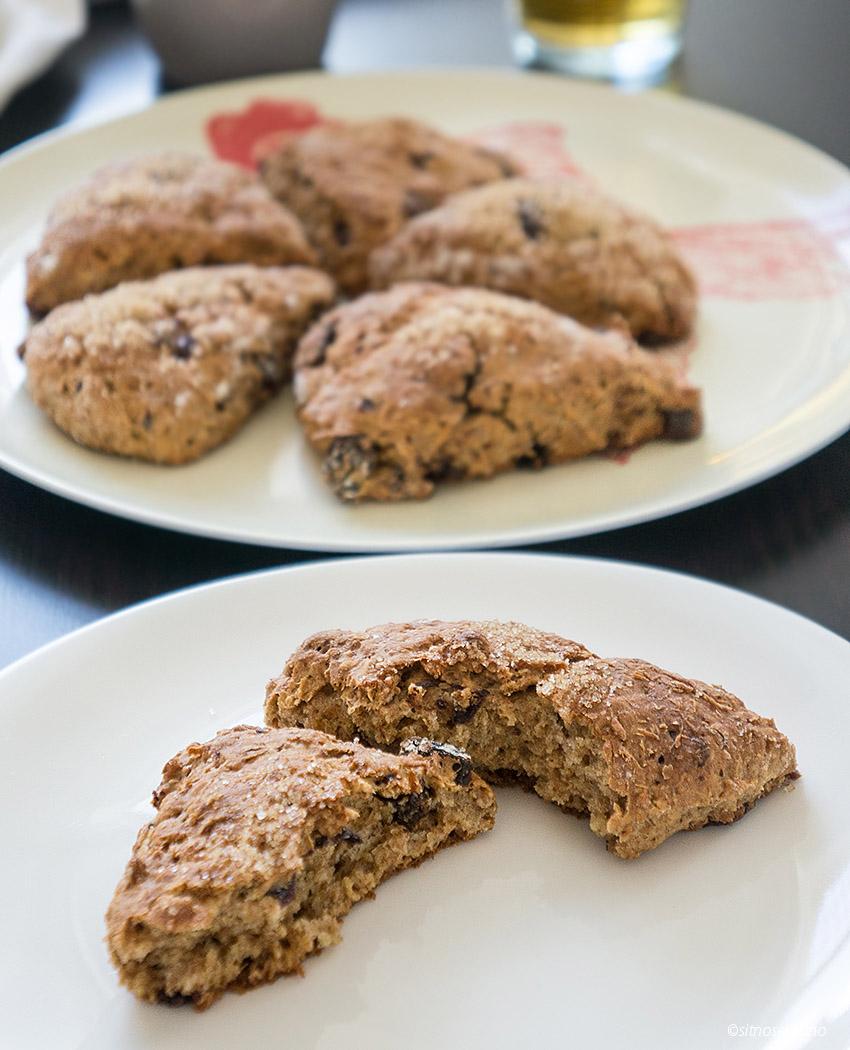 Raisin chocolate scones-13