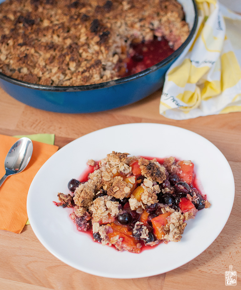 apricot plum black currant crisp