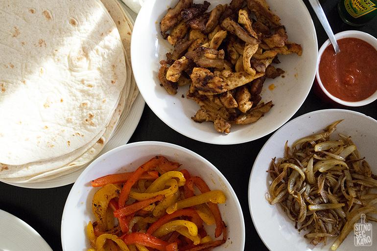 Chicken fajitas / Sitno seckano