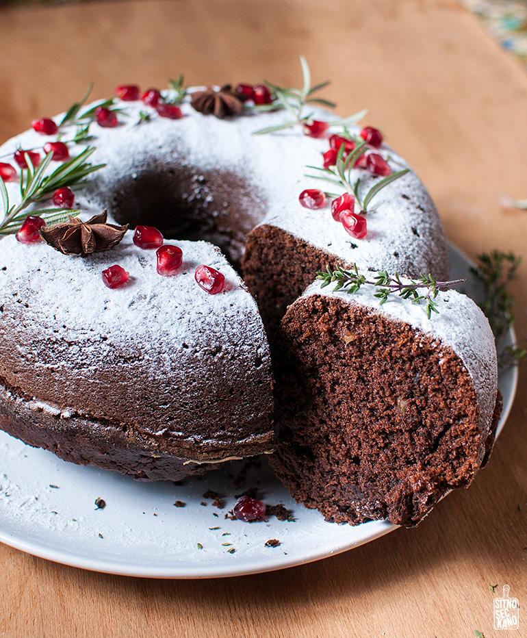 chocolate pumpkin bundt cake | sitno seckano