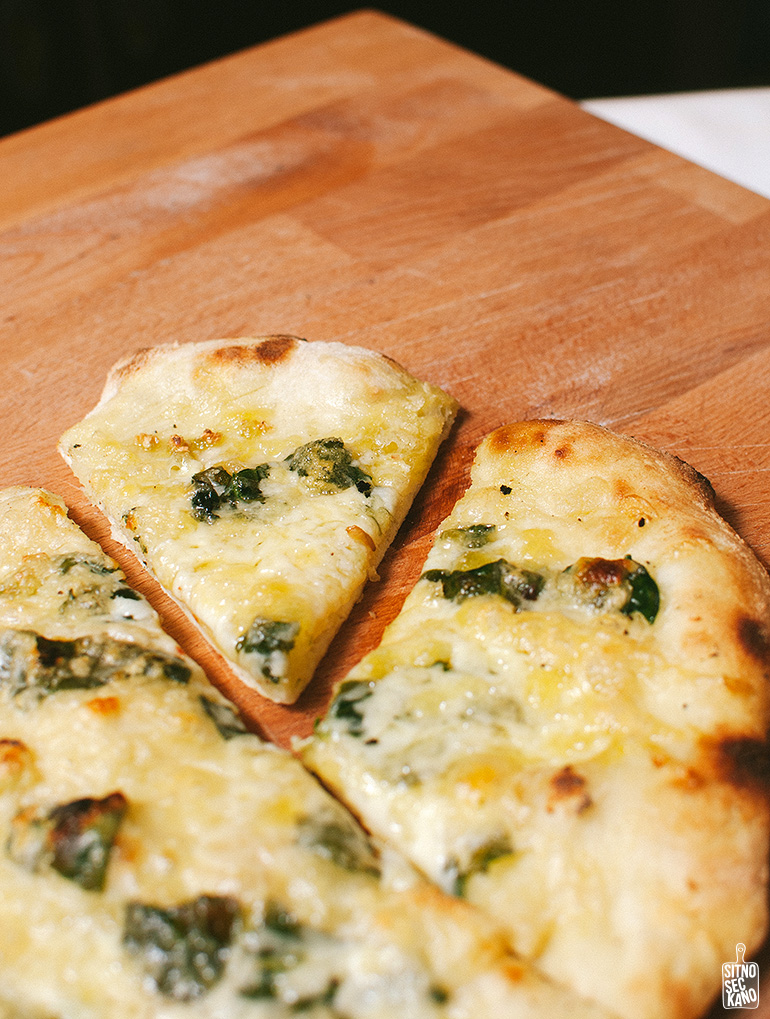 spinach garlic lemon pizza | Sitno Seckano