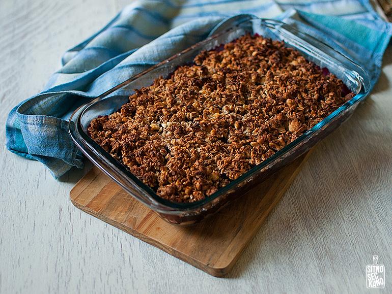 Blackberry cocoa butter crumble | Sitno seckano