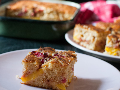Peach red currant cake | Sitno seckano