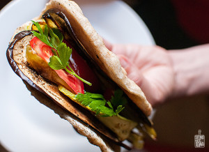 Roasted vegetables in pita bread | Sitno seckano