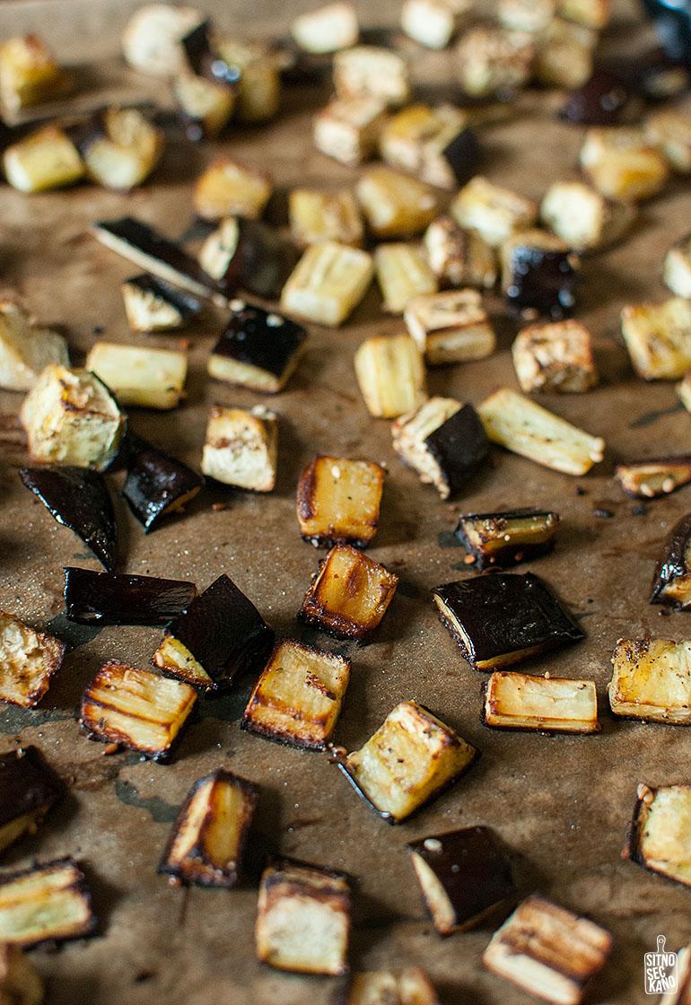 Roasted eggplant pasta | Sitno seckano