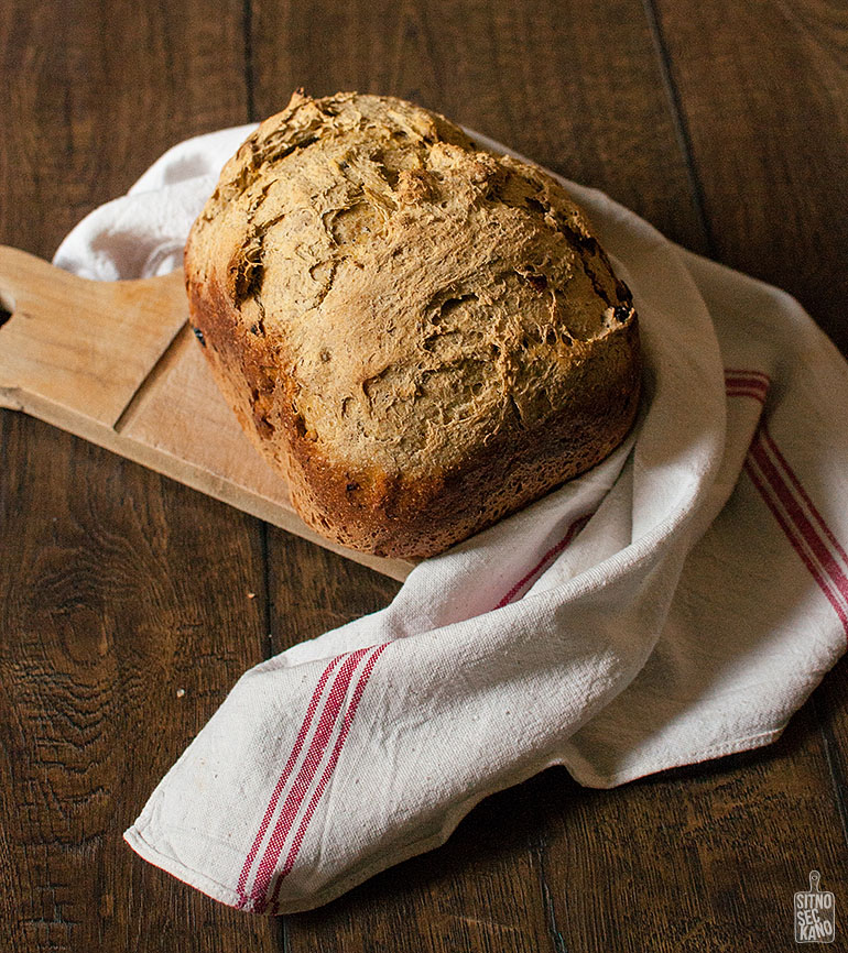 Carrot walnut raisin bread | Sitno seckano