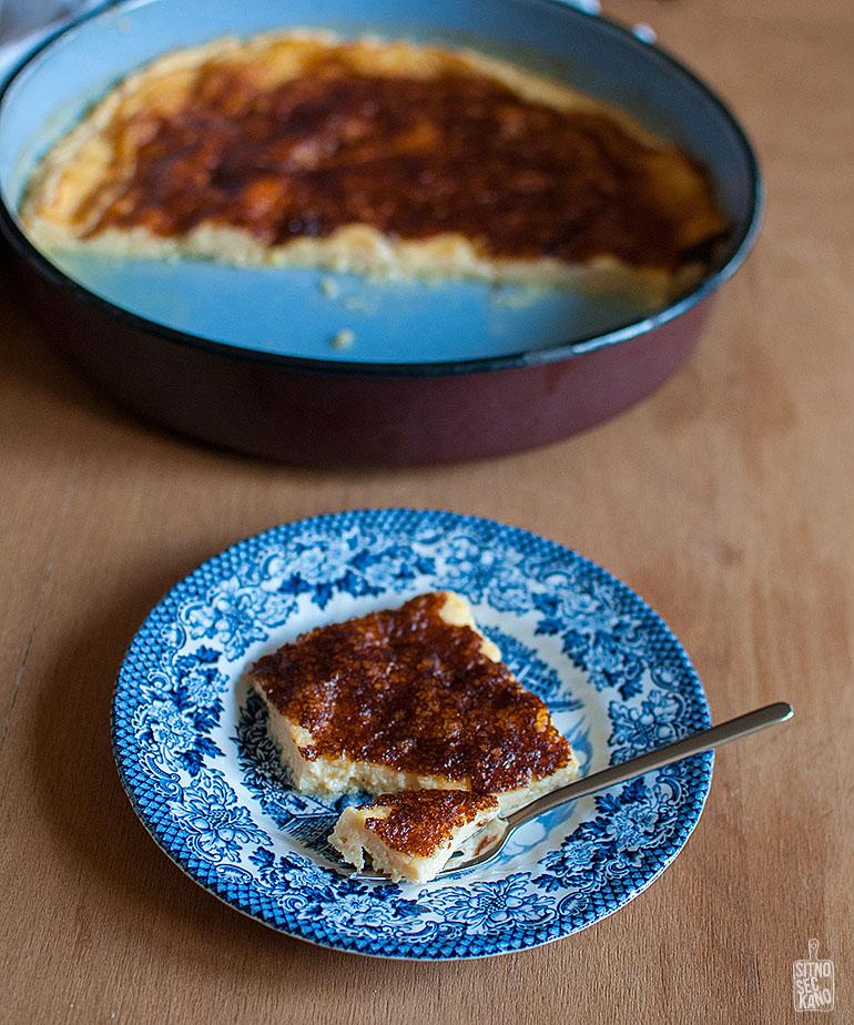 Mlechnik - a dessert made from milk, eggs and sugar | Sitno seckano