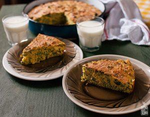 Spinach cornbread | Sitno seckano