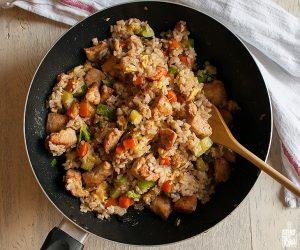 Chinese chicken fried rice | Sitno seckano