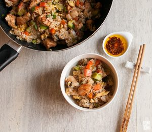 Chinese chicken fried rice | Sitno seckano
