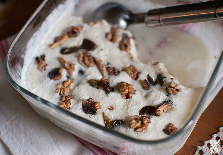 Green fig walnut ice cream | Sitno seckano