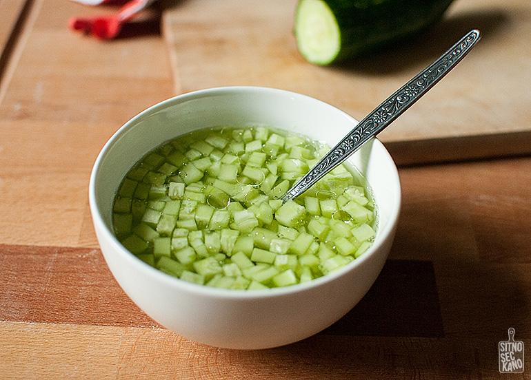 Summer cucumber salad | Sitno seckano