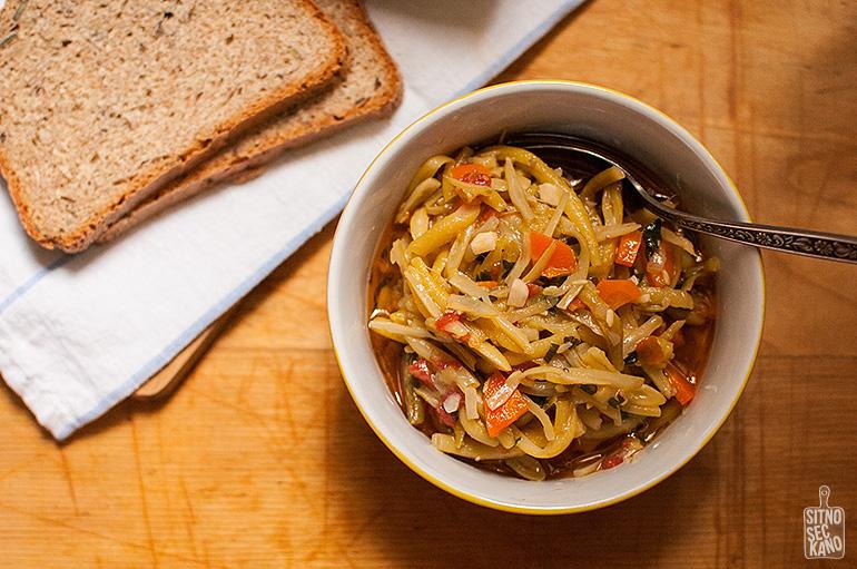 Yellow beans stew | Sitno seckano