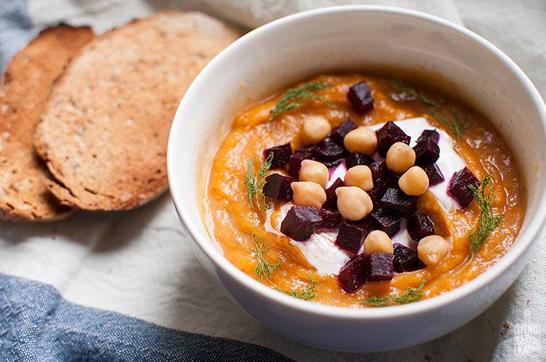Sweet potato red lentil soup   Sitno seckano