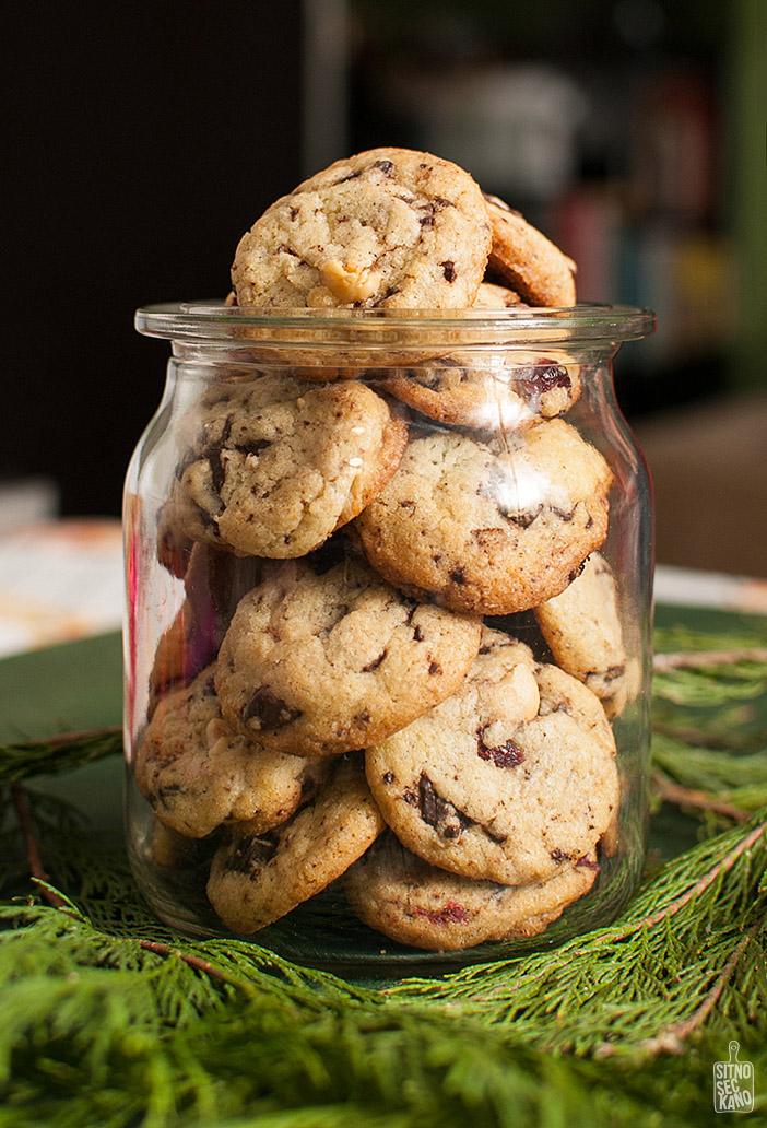 Dark chocolate chip, hazelnut cranberry cookies | Sitno seckano