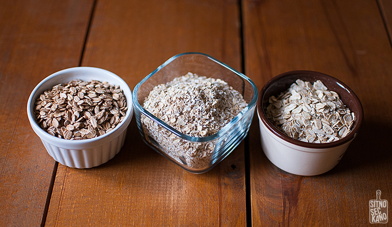 Oatmeal three ways   Sitno seckano