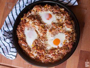 Spicy eggs and quinoa bake | Sitno seckano