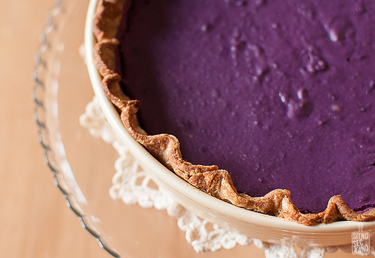 Purple sweet potato pie with sourdough pie crust | Sitno seckano
