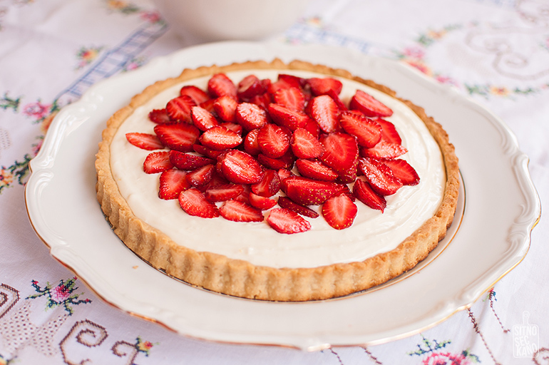Strawberry Mascarpone Tart | Sitno Seckano