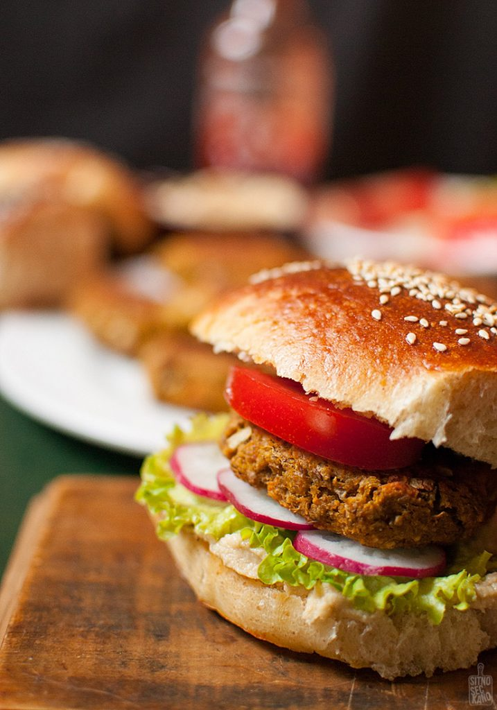 Lentil sweet potato veggie burgers | Sitno seckano